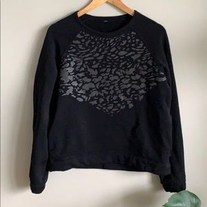 Lululemon | leopard fleece sweater
